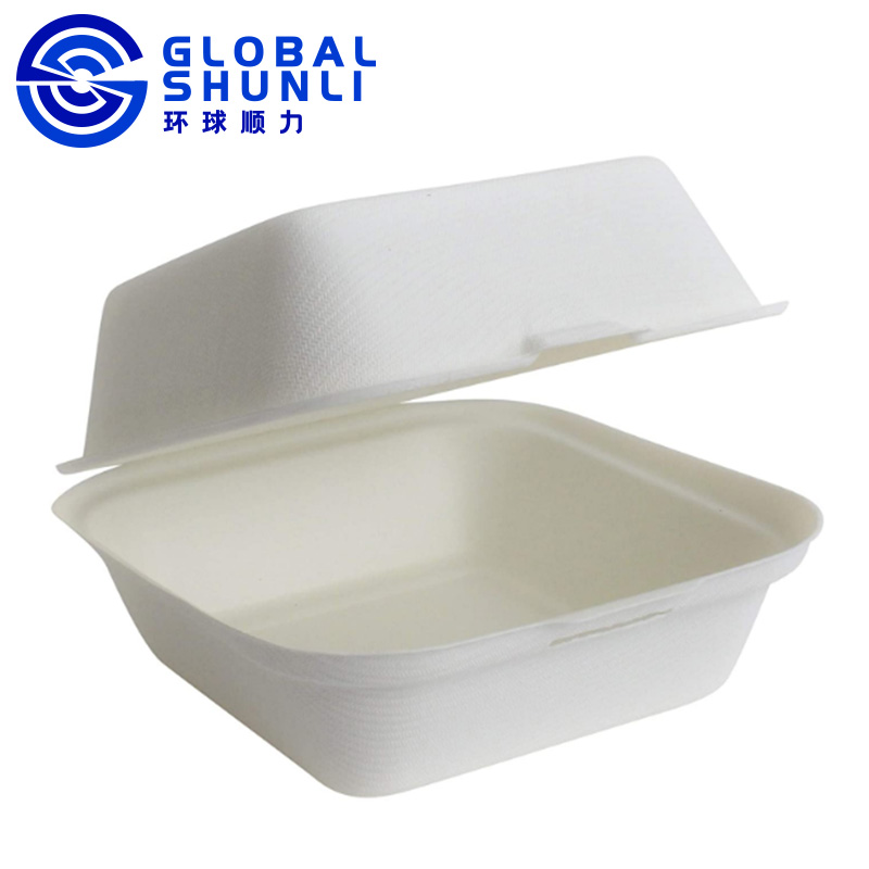 100% sugarcane paper pulp dinner box