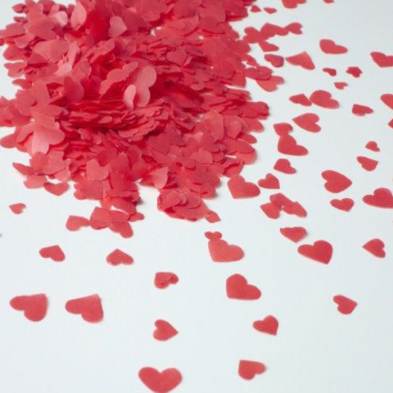 heart shape tissue paper confetti design