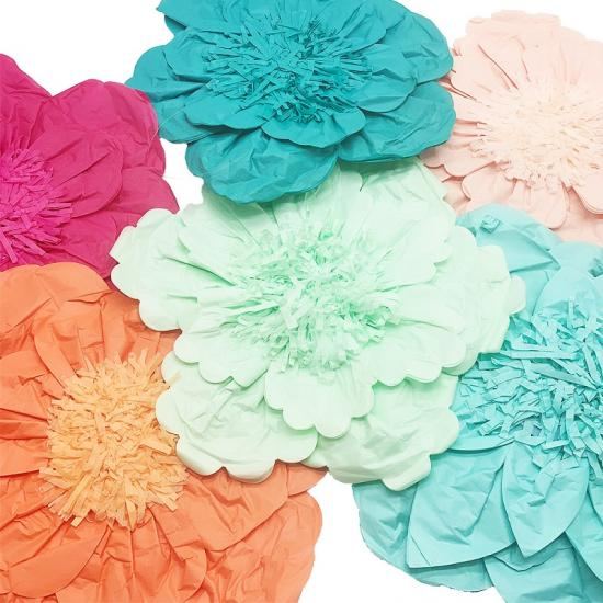 paper flowers wall decorations backdrop